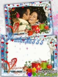 Романтическая рамка для фото - Праздник при свечах