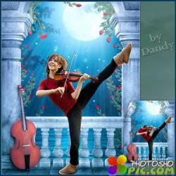 Шаблон для девушки - Виртуозная скрипачка