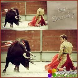 Шаблон для мужчины - Тореадор против быка