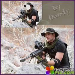 Шаблон для мужчины - Снайпер на спецзадании