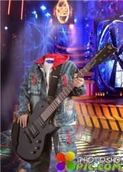 Шаблон для фотошопа мальчикам – Гитарист