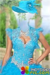 Женский фотошоп шаблон – Нарядное платье с драгоценностями
