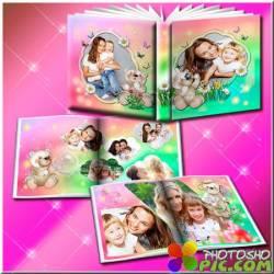 Детский фотоальбом с мишками Тедди