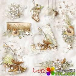 Новогодний клипарт, зимние кластеры для фотошопа – Украсим празднично
