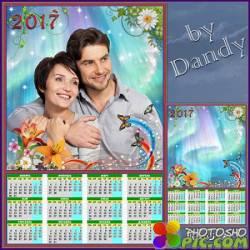 Шаблон календаря на 2017 год - Всегда вместе