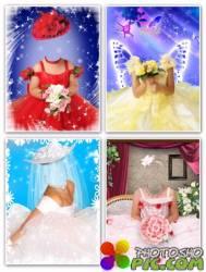 Детские шаблоны для фотошопа девочкам – Нарядные платья