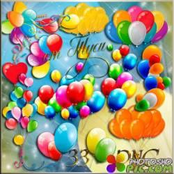 Клипарт - Воздушные шары / Clipart - Balloons