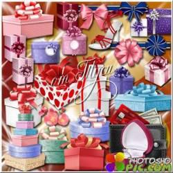 Клипарт - В коробку подарок для тебя положу