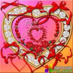 Рамки-вырезы - Сердечки / Frames-notches - Hearts