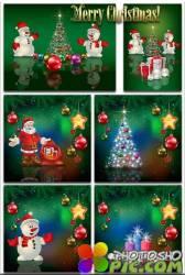 Новогодние фоны-Новогодние композиции.5 часть/Christmas backgrounds-Christmas composition.Part 5