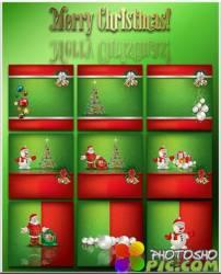 Новогодние фоны-Новогодние композиции.6 часть/Christmas backgrounds-Christmas composition.Part 6