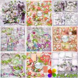 Scrap set - Love me tender / Purple Charm / With Love