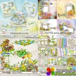 Scrap set - Hello Spring / Pastel Easter / Paint The Spring