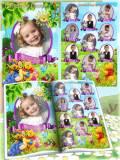 Детская виньетка для детского сада - Винни пух