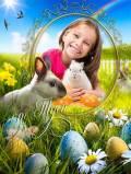 Детская рамка и коллаж для фото к Пасхе - Светлый день