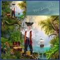 Шаблон для фотошопа - Пират с сундуком