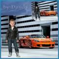 Шаблон для фотошопа - Стильный мальчишка возле машины