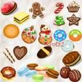 Клипарт для фотошопа – Новогоднее печенье, крекер, маскарпоне