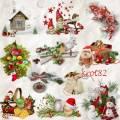 Новогодний клипарт, кластеры на прозрачном фоне для фотошопа – Праздничное украшение