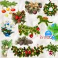 Новогодние кластеры для фотошопа – Целый день висят игрушки на елках