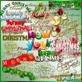 Merry Christmas and New Year - Text