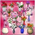 Цветы в вазах - Клипарт