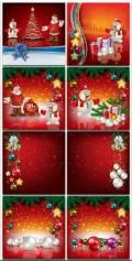 Новогодние фоны-Новогодние композиции.2 часть/Christmas backgrounds-Christmas composition.Part 2