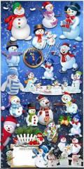 На праздник спешит весёлый снеговик - Мега-набор новогоднего клипарта
