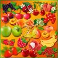 Клипарт - Ягоды и фрукты - очень вкусные продукты