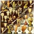 Золотые кубки - Клипарт