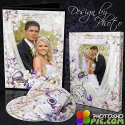 Обложка и задувка на DVD диск - Свадебные орхидеи