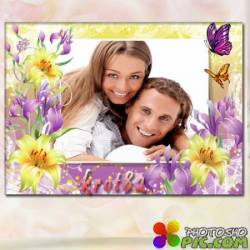 Рамка для фото с цветами — Весеннее настроение