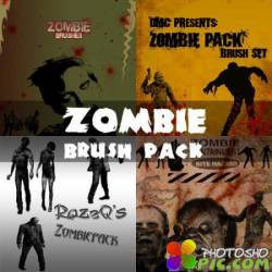 Кисти для фотошопа - Злобные Зомби