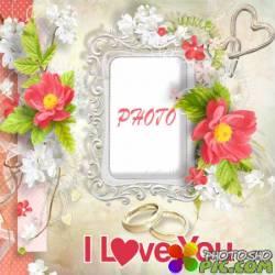 Свадебная фоторамка - Любовь на всю жизнь