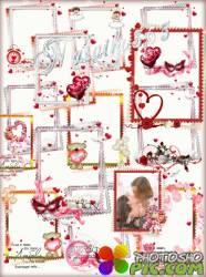 Романтические рамки вырезы - О любви говорить не спеши