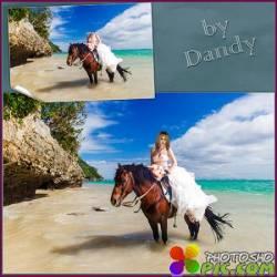 Шаблон для девушки - Невеста на лошади