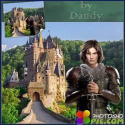 Шаблон для мужчины - Рыцарь возле замка