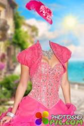 Шаблон женский для фотошопа – Девушка на набережной