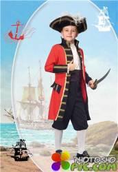 Фотошоп шаблон для мальчиков – Пират