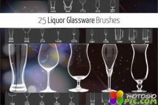 Набор кистей для Фотошоп - Стеклянная посуда для спиртных напитков