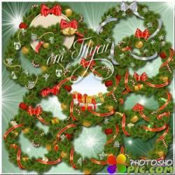 Клипарт - Здесь сказка Рождества в венок вплетена