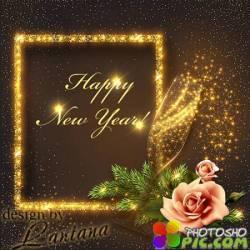 PSD исходник - Новый год нам дарит волшебство 36