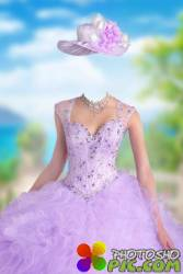 Шаблон для фотошопа женский – Фиолетовое платье