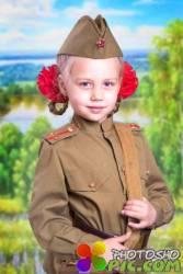 Военный шаблон для девочек - Форма солдата
