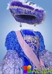 Детский шаблон для фотошопа – Юная принцесса