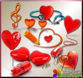 Clipart - Quiet heart beating in anticipation of love