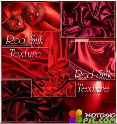 Red Silk Texture - Clipart / Красный шелк - Клипарт