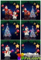 Новогодние фоны-Новогодние композиции.9 часть/Christmas backgrounds-Christmas composition.Part 9