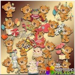 Мишки Тедди и День Рождения. 6 часть - Детский клипарт