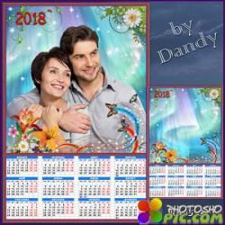 Шаблон календаря на 2018 год - Вечная любовь